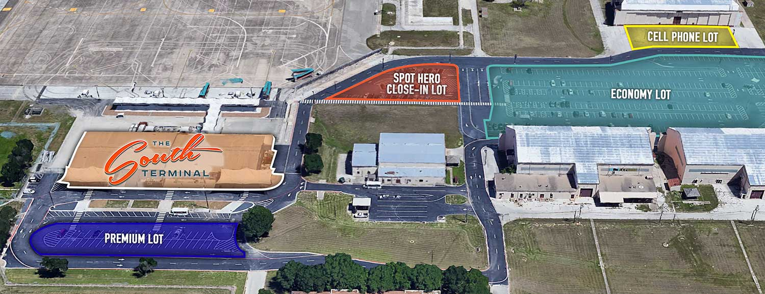 GETTING HERE & PARKING – South Terminal